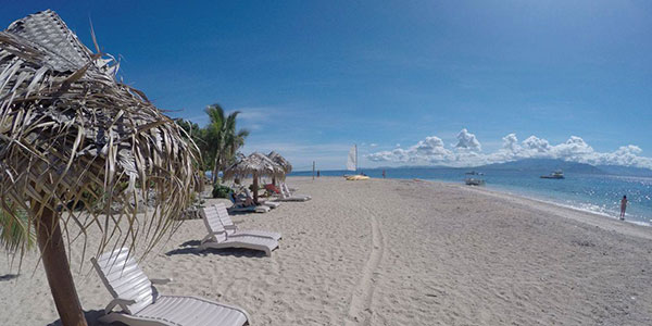 beach and lunge chairs in fiji