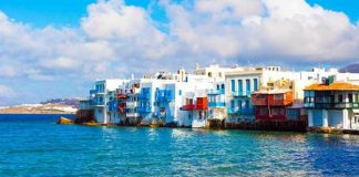 Greek houses by the sea